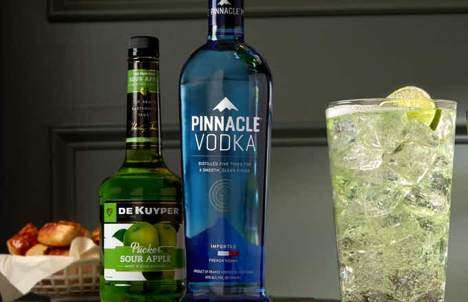 Pinnacle Sour Apple Highball