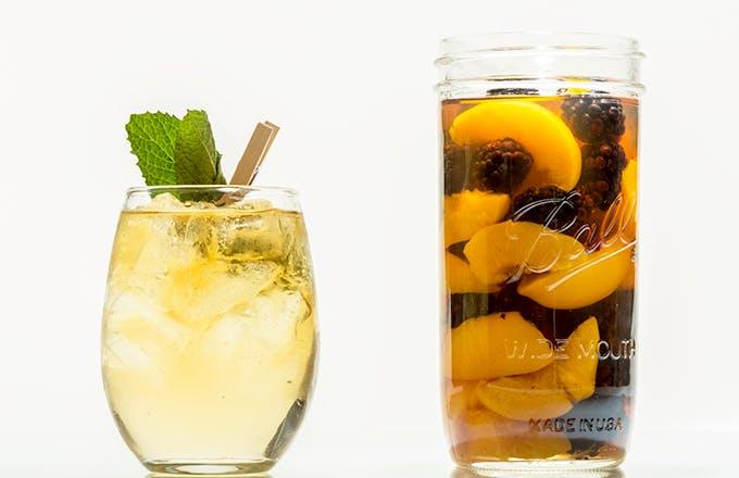 Blackberry & Peach Infused Bourbon